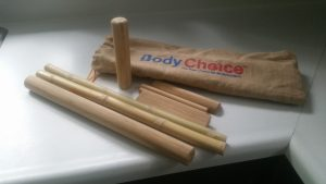 This is my collection of bamboo massage sticks.